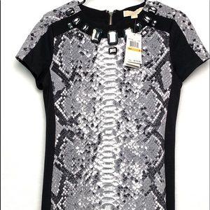 Michael Kors Black Snakeskin Dress - NWT